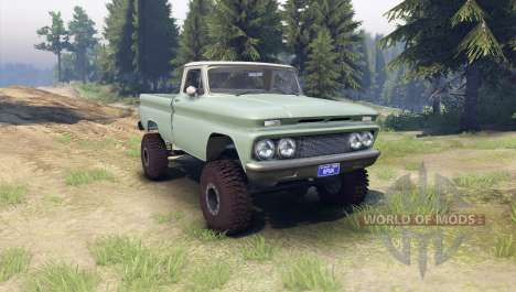 Chevrolet С-10 1966 Personnalisé de deux tons de pour Spin Tires