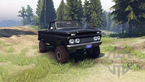 Chevrolet С-10 1966 Benutzerdefinierte tuxedo sc für Spin Tires