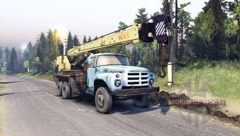 ZIL-133-LKW-Kran GA für Spin Tires