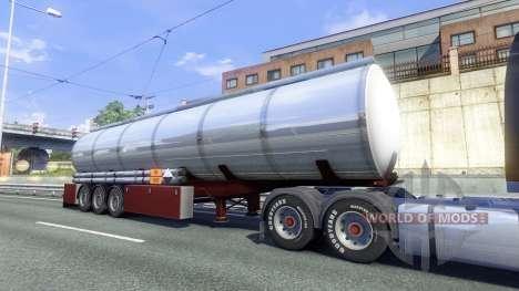 Les Remorques De La Techno De Produits Chimiques pour Euro Truck Simulator 2
