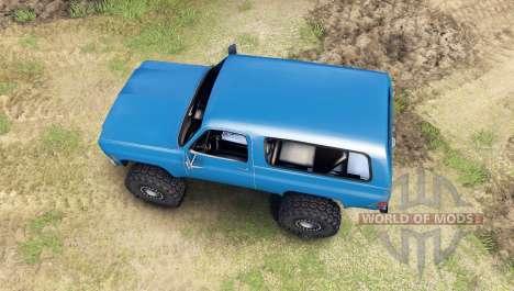 Chevrolet K5 Blazer 1975 [final] [blue] pour Spin Tires