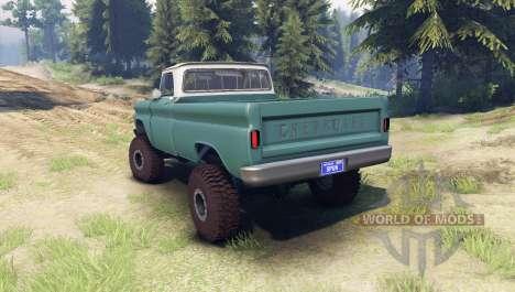 Chevrolet С-10 1966 Personnalisé de deux tons tr pour Spin Tires