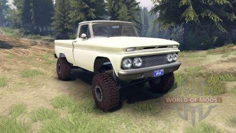 Chevrolet С-10 1966 Benutzerdefinierte zwei-Ton- für Spin Tires