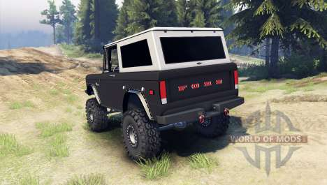 Ford Bronco 1966 [black] pour Spin Tires