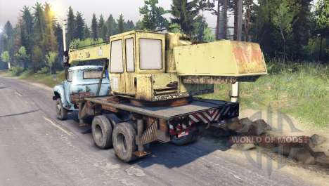 ZIL-133 camion-grue GA pour Spin Tires