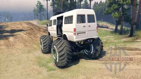 Minibus für Spin Tires