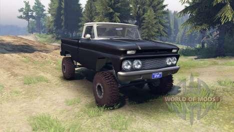 Chevrolet С-10 1966 Personnalisé de deux tons no pour Spin Tires
