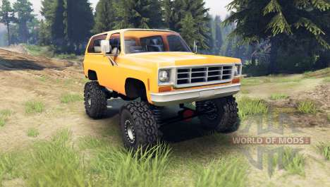 Chevrolet K5 Blazer 1975 [final] [orange] für Spin Tires