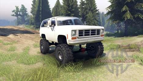 Chevrolet K5 Blazer 1975 [final] [white] pour Spin Tires