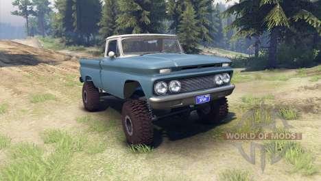 Chevrolet С-10 1966 Personnalisé de deux tons ma pour Spin Tires