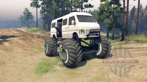 Minibus pour Spin Tires