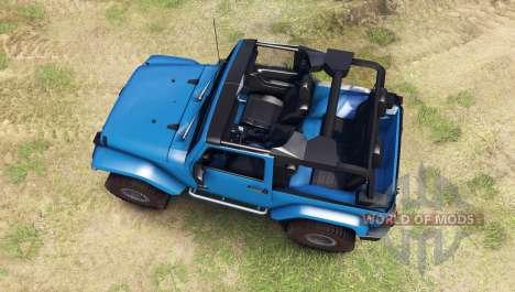 Jeep Wrangler blue pour Spin Tires