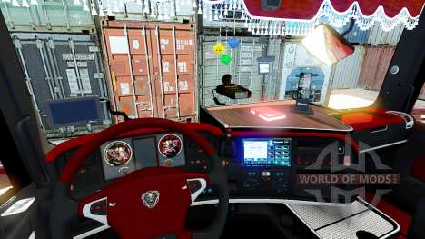 Innen rot Scania für Euro Truck Simulator 2
