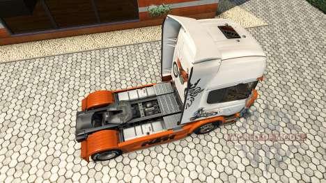 KTM-skin für den Scania truck für Euro Truck Simulator 2