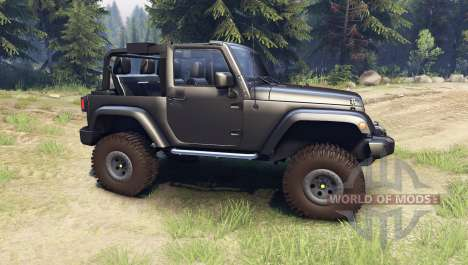 Jeep Wrangler black pour Spin Tires