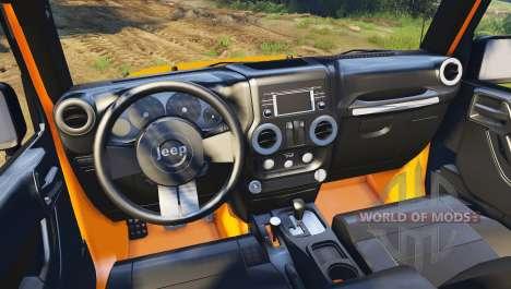Jeep Wrangler orange für Spin Tires