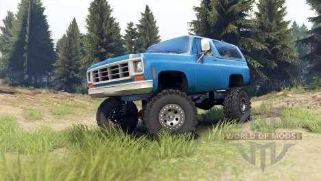 Chevrolet K5 Blazer 1975 [final] [blue] für Spin Tires