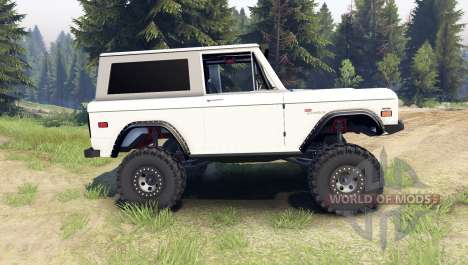 Ford Bronco 1966 [white] pour Spin Tires