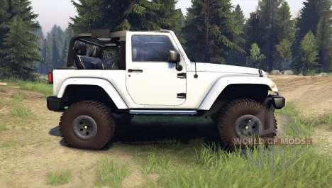 Jeep Wrangler white für Spin Tires