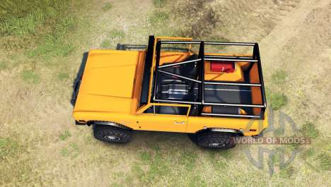 Ford Bronco 1966 [orange] pour Spin Tires