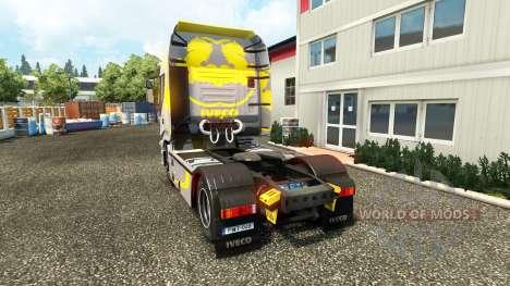 Haut Hi Möglichkeit Gelb Grau auf dem LKW Iveco für Euro Truck Simulator 2
