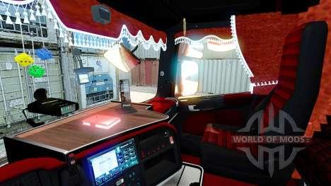 Intérieur rouge Scania pour Euro Truck Simulator 2