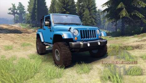 Jeep Wrangler blue für Spin Tires