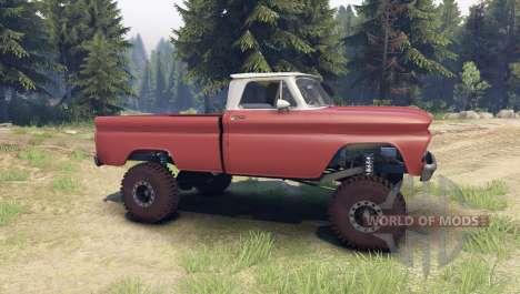Chevrolet С-10 1966 Personnalisé de deux tons br pour Spin Tires