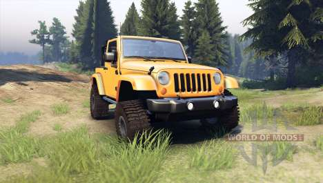 Jeep Wrangler orange pour Spin Tires