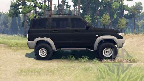 UAZ-3163 dns_event_unknown_service_port Patriot pour Spin Tires