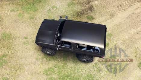 Chevrolet K5 Blazer 1975 [final] [black] pour Spin Tires