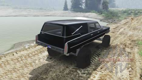 Cadillac Hearse 1975 [monster] [black mass] pour Spin Tires