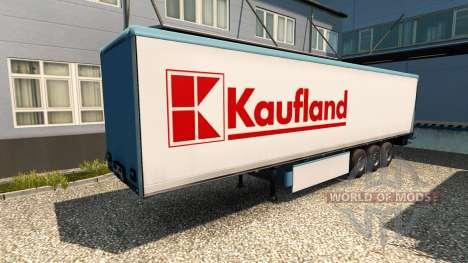 Haut Kaufland auf dem Anhänger für Euro Truck Simulator 2