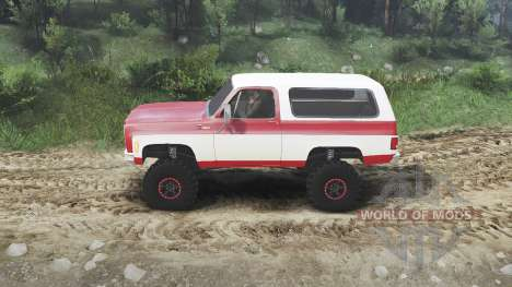Chevrolet K5 Blazer 1975 [red and white] für Spin Tires