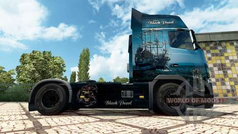 Black Pearl skin für den Volvo truck für Euro Truck Simulator 2