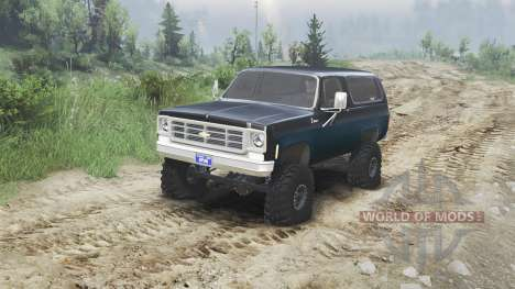 Chevrolet K5 Blazer 1975 [black and blue] pour Spin Tires