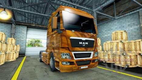 De la peau d'Olive en Bois sur le camion de l'HO pour Euro Truck Simulator 2