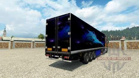 Haut der Wolf trailer für Euro Truck Simulator 2