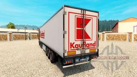 La peau Kaufland sur la remorque pour Euro Truck Simulator 2