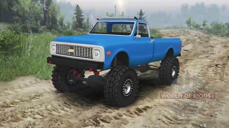 Chevrolet C10 Cheyenne 1972 [blue] pour Spin Tires