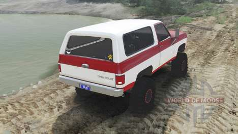 Chevrolet K5 Blazer 1975 [red and white] für Spin Tires