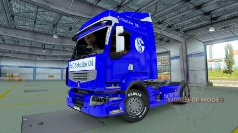 Schalke 04-skin für Renault LKW für Euro Truck Simulator 2