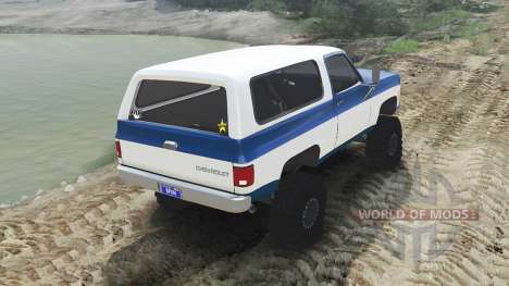 Chevrolet K5 Blazer 1975 [blue and white] für Spin Tires
