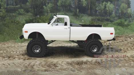 Chevrolet C10 Cheyenne 1972 [white] pour Spin Tires