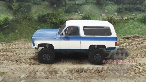 Chevrolet K5 Blazer 1975 [blue and white] für Spin Tires
