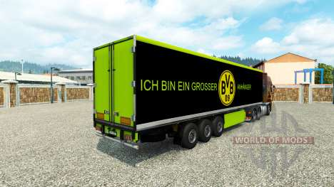 BVB skin für den trailer für Euro Truck Simulator 2