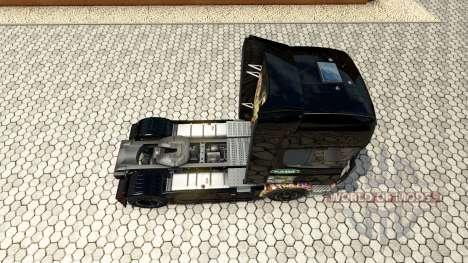 La peau Autocollant Bombes sur le tracteur Scani pour Euro Truck Simulator 2