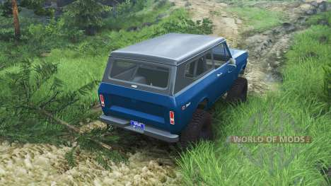 International Scout II 1977 [bimini blue poly] pour Spin Tires