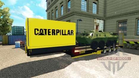 Basse-lit semi-remorque avec des blindés de tran pour Euro Truck Simulator 2