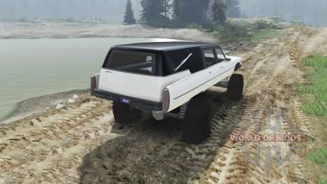 Cadillac Hearse 1975 [monster] [pale white] pour Spin Tires